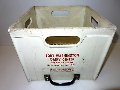 Rare - Vintage Fort Washington Dairy Center Milk Crate  / Fort Washington, PA.