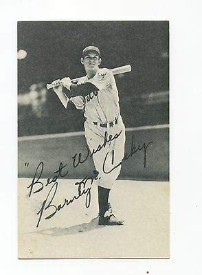 Autographed Photo of Tigers Barney McCoskey