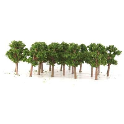 50 Dark Green Model Banyan Trees Train Layout Garden Street Scenery 5.5cm Z