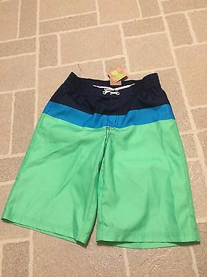 New With Tags: Crazy 8 Colorblock Kid Boy Swim Shorts/Trunks Size Large