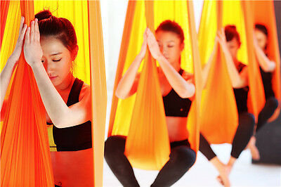 Yoga Swing Elastic Flying Aerial Sling Therapy Anti-Gravity Hammock 4*2.8M