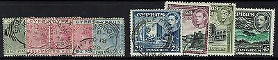 Cyprus 9 Older Stamps, Used -  Lot 112916