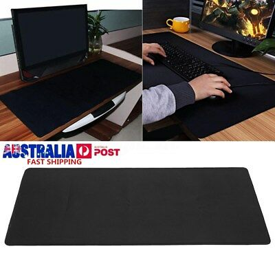 90x40cm Large Black Non-Slip Gaming Mouse Pad Keyboard Mat Office Desk Mousepad