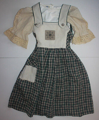 Authentic German Toddler Girl 4T Trachten Dress Oktoberfest 2 Pc Outfit Costume