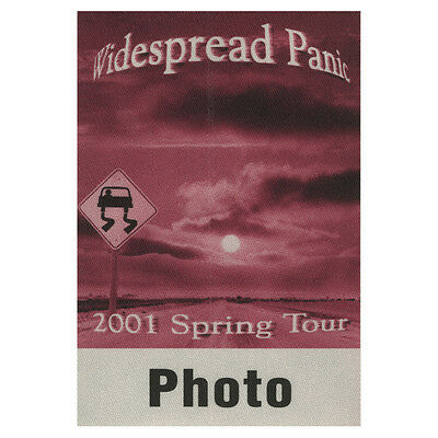 Widespread Panic authentic Photo 2001 tour Backstage Pass