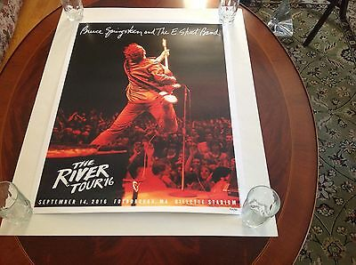 Bruce Springsteen and the E Street Band  River Tour Poster Gillette Stadium