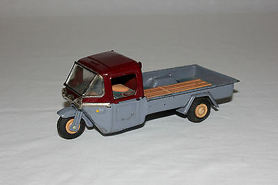 Rare Bandai Tin Litho Friction 3 Wheel Delivery Truck Motorcycle Works VG L@@K