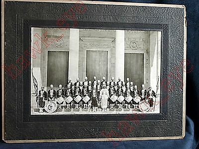 Vintage Masonic Shriner Aden Temple 159 Band Phote Racine Wisconsin Rare HTF