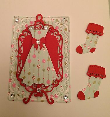 GIRLY CHRISTMAS CARD TOPPER  - Set F