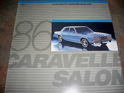 1986 Plymouth Caravelle Salon  French Canadian  Original Brochure