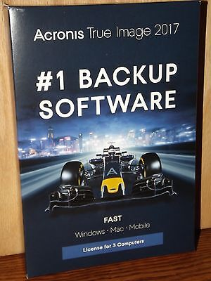 Acronis True Image 2017 #1 Backup Software Pc & Mac (3 Devices) Brand New!!