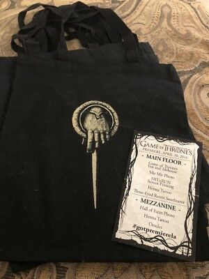 Collectors Edition Game of Thrones (GOT) tote bags (One Of Six /all unique)