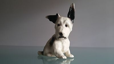 Porcelaine Terrier Cute Dog Figure In Perfect Condition.