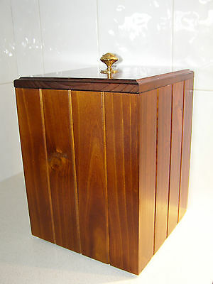 New Rubbish/waste Bin/tidy/ Bathroom/office/bedroom/kitchen Timber/wooden