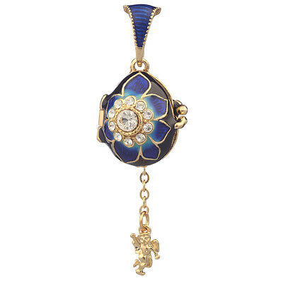 Faberge Egg Pendant / Charm with Angel 2.1 cm #0730-4