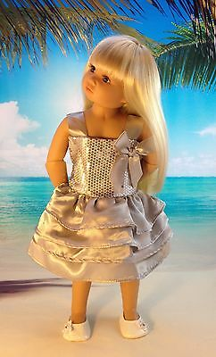 Our Generation, American Girl, Journey Girl Doll Party Dress And Knitted Shawl