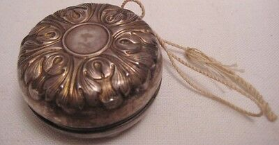 Old Towle Leafy Silverplate Yo Yo Toy Monogrammed W.T.M & Dated 7/4/73 - NICE!