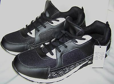 Men's Original League Black / White Sneakers Size 9 Trainers (43) New With Tags