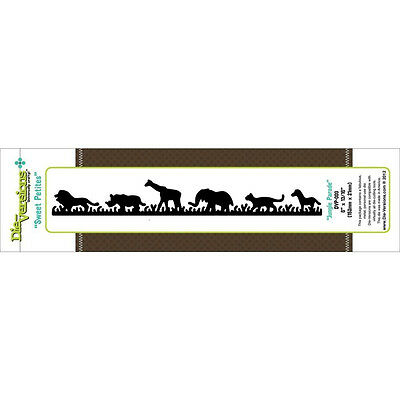 Die-versions *Jungle Parade Border* Die - Compatible with Cuttlebug & Sizzix