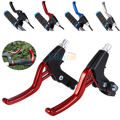 1 Pair Lightweight Aluminum Alloy Bike Bicycle Brake Levers 2-finger Handles
