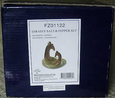 Franz Porcelain FZ01122 Giraffe Salt & Pepper Set Boxed 2007