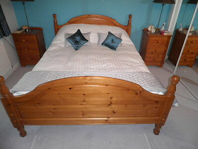 Solid Pine bed,with frame,headboard and base board