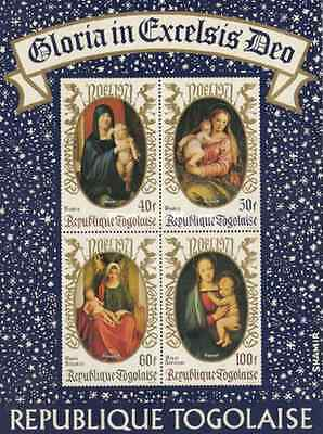 Timbres Religion Noel Togo BF58 ** lot 17129