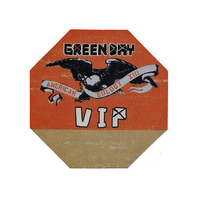 Green Day authentic VIP 2010 tour Backstage Pass