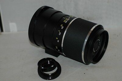 Soligor  500 Mm F/8  Mirror Lens  With T2/m42 Screw Fitting Mount.