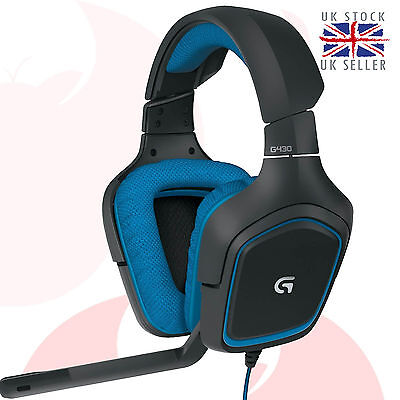 Logitech G430 7.1 Surround Sound Gaming Headset 981-000537 (for PC and PS4)