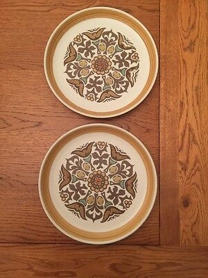 Langley Denby Canterbury x 2 Dinner Plates in very good condition