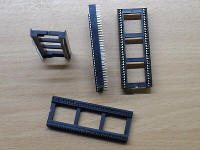 "Fine Pitch 64 Pin IC Socket DIL 0.75"" wide Way DIP chip C64C PLA"