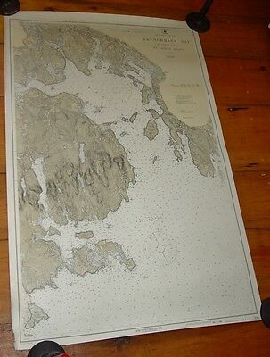 Old Estate 1919 Nautical Chart Frenchman's Bay And Eastern  Mt Desert Island