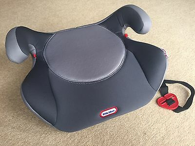 Little Tikes Booster Car Seat Grey 4-12 yr old Group 2-3