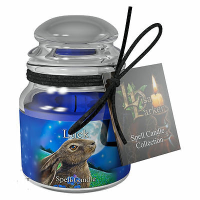 Spell Candle Luck by Lisa Parker with Spell - Sandalwood Scented