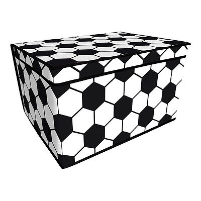 Football Design Storage Chest With Padded Lid Kids Toy Box