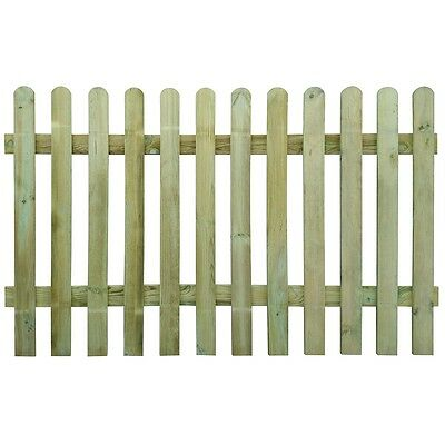 New Picket Fence 200x120 cm Wood Garden Wooden Fence Panels Lawn Border Fencing