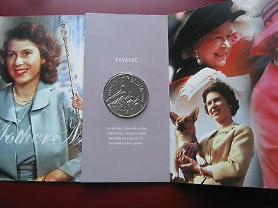 UK 2006 Five Pound £5 Crown coin Queen's 80-th Birthday in Royal Mint folder