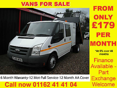 2010 Ford Transit DOUBLE CAB TIPPER WHITE-DIESEL-MANUAL