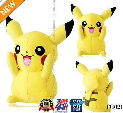 "Japanese Anime POKEMON Pikachu 8"" 21cm Soft Plush Toy Doll Teddy Kids Gift TG021"