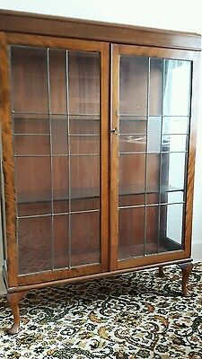 Leaded glass display case
