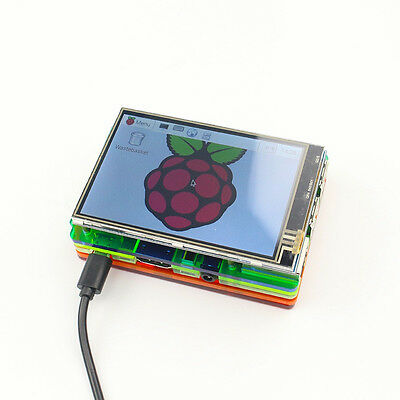 3.5 inch LCD Touch Screen Display Kit W/ Colorful Case for Raspberry Pi 2 3 nb