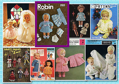 200+ Vintage Doll CROCHET & KNITTING PATTERNS ~ Lots to choose from