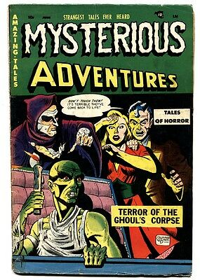 MYSTERIOUS ADVENTURES #2 comic book 1951-Weird menace-VIOLENT-PRE-CODE HORROR