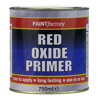 750ml Long Lasting Red Oxide Primer Paint Can Easy Apply Indoor Outdoor Adhesion