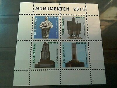 Suriname 2013 Monuments  MS MNH per scan