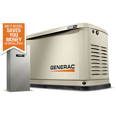 16KW Guardian Standby Generator w/ 100amp 16 circuit ATS Generac 7036 New