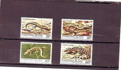 a103 - CHRISTMAS ISL - SG144-147 USED 1981 REPTILES