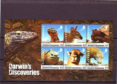 a112 - GUERNSEY - SGMS1273 MNH 2009 DARWINS DISCOVERIES - ANIMALS