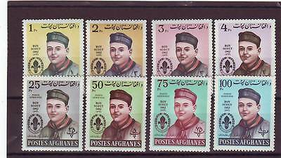 a114 - AFGHANISTAN - 1962 MNH 8v BOY SCOUTS DAY